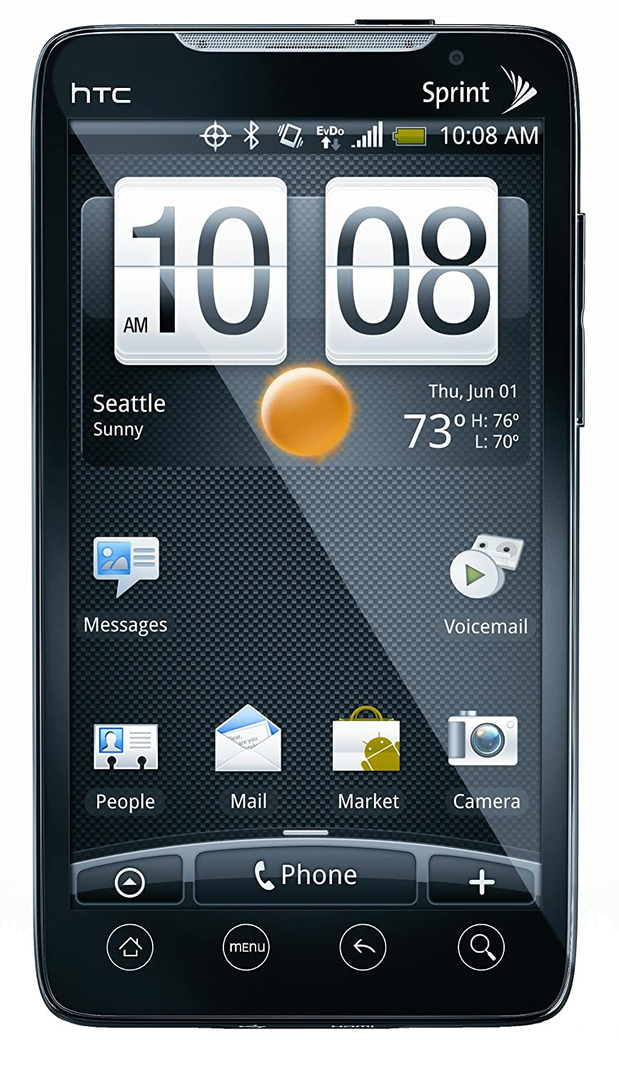 Camera Htc Qwerty Android Phones amazon com htc evo black sprint cell phones accessories