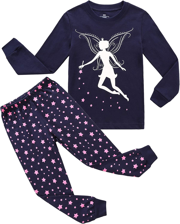 RKOIAN Little Boys Girls Pajamas Sets Glow in The Dark Toddler Pjs Cotton Kids Sleepwear
