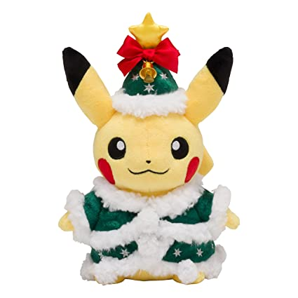 pokemon center original plush toy christmas 2017 pikachu - Christmas Pikachu