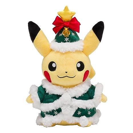 Christmas Pikachu.Pokemon Center Original Plush Toy Christmas 2017 Pikachu