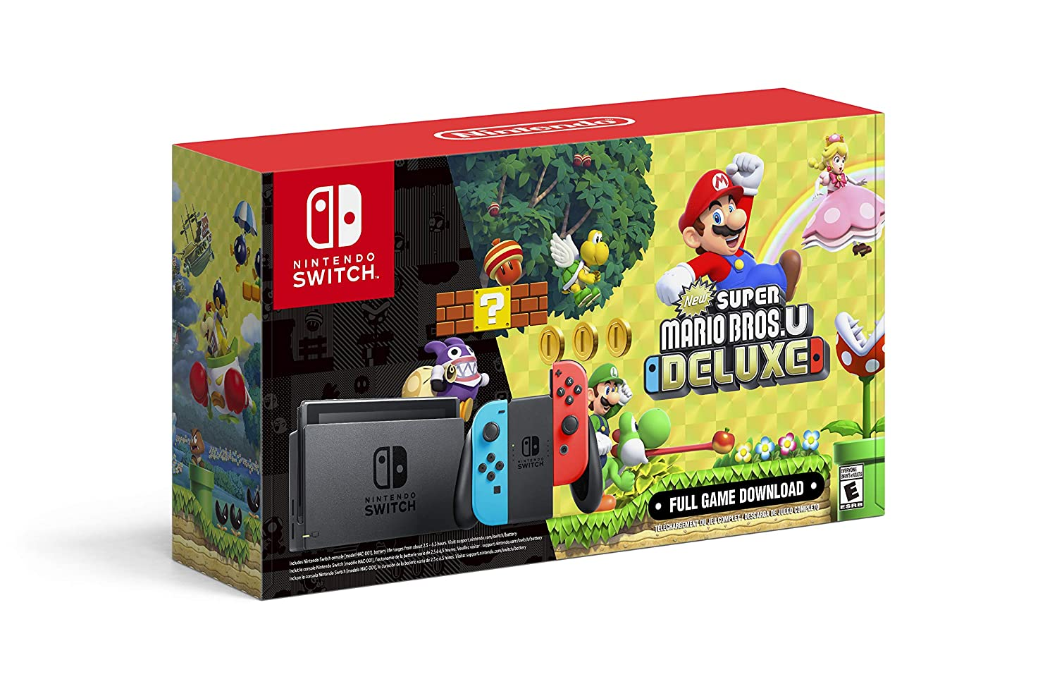 Amazon Com Nintendo Switch With Neon Blue And Neon Red Joy Con