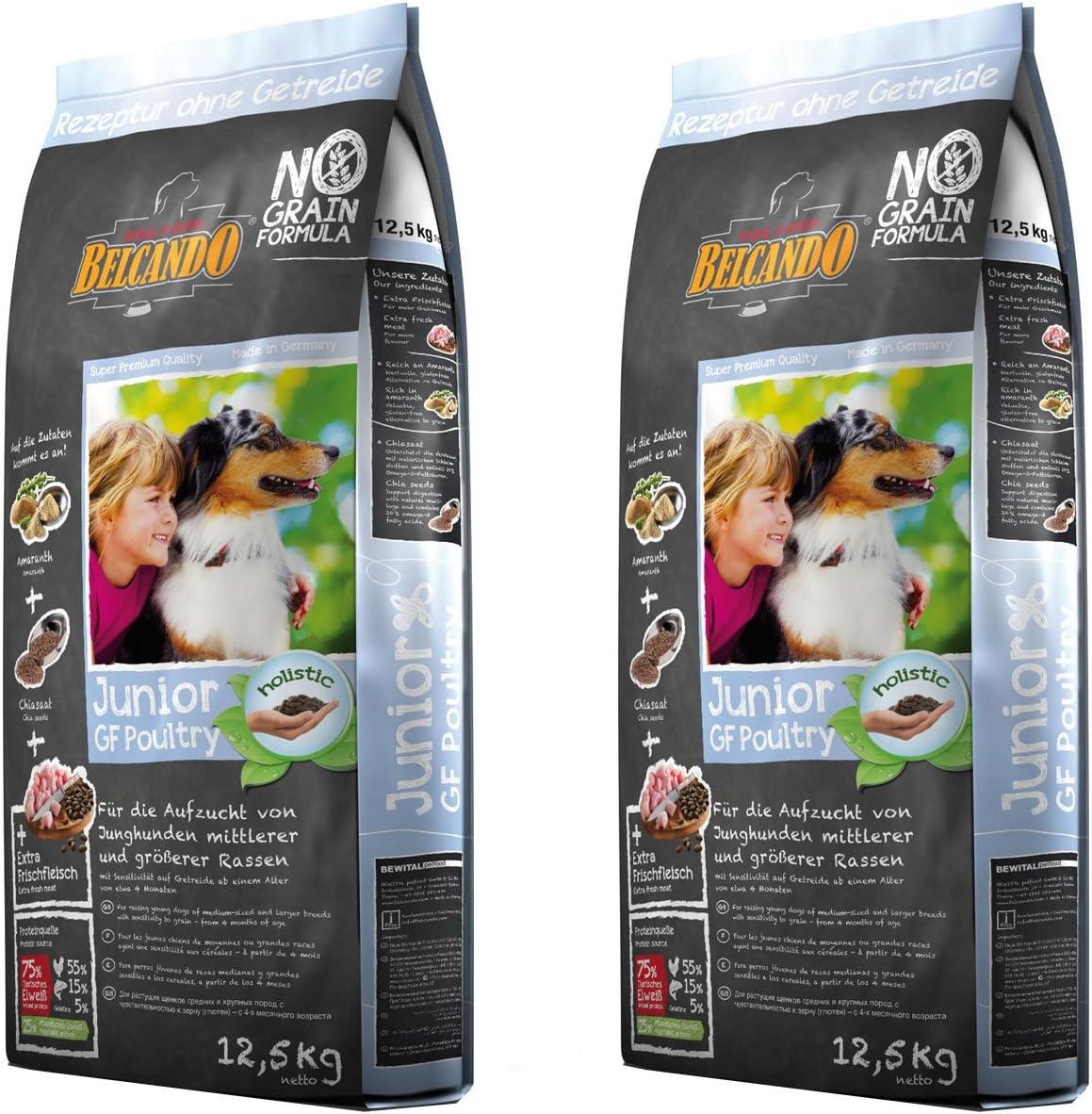 2x 12,5kg belcando Junior GF Poultry getreidefreies Perros Forro Cachorro, Puppy