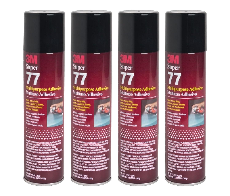 QTY4 3M SUPER 77 Spray Glue 7.3 OZ Adhesive for FOIL Plastic Paper Foam Metal