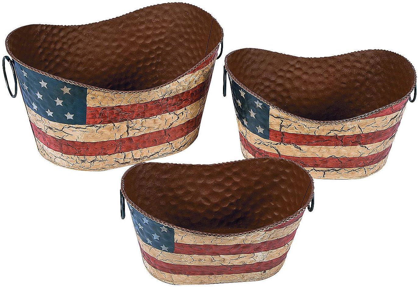 Fun Express Americana Flag Decorative Pails