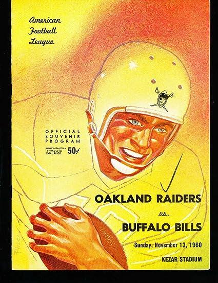 1960 1113 Oakland Raiders vs Buffalo Bills football Program at
