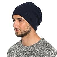 DonDon Bonnet hommes toute saison jersey bonnet Slouch Beanie respirant et doux s'adaptant à toutes les tailles de tête