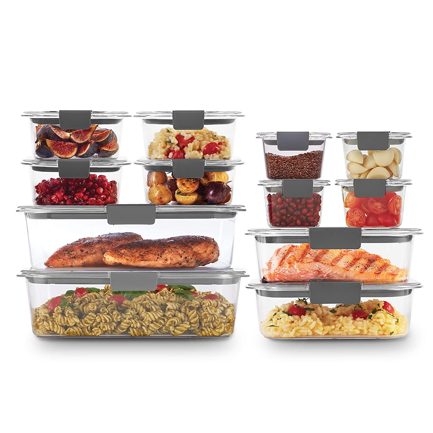 Rubbermaid 2108390 Brilliance Storage 24-Piece Plastic Lids | BPA Free, Leak Proof Food Container, Clear