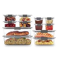Rubbermaid Brilliance Storage 24-Piece Plastic Lids | BPA Free, Leak Proof Food...