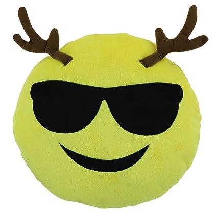 amazon com cool guy reindeer 9 emoji christmas throw pillow