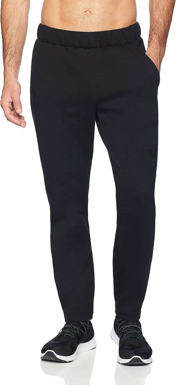small black Peak Velocity Men/'s Metro Fleece Straight-Fit Sweatpant