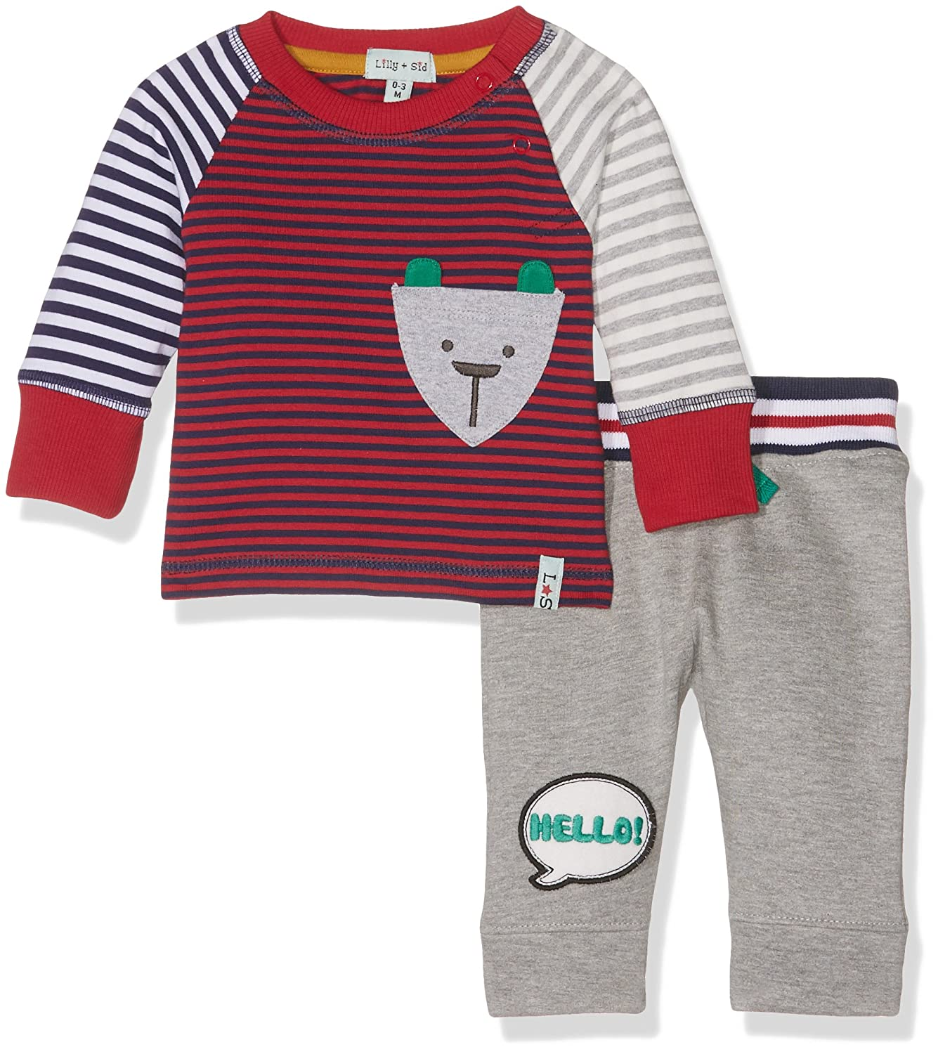 Lilly and Sid Baby Boys Hello Bear Set Clothing