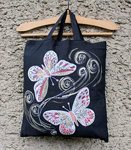 Redbutterfly blue textile pouch