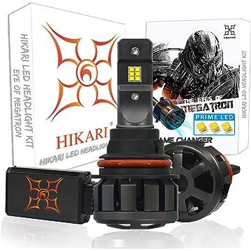 HIKARI Ultra LED Headlight Bulbs Conversion Kit -9007/HB5, Prime LED 12000lm 6K