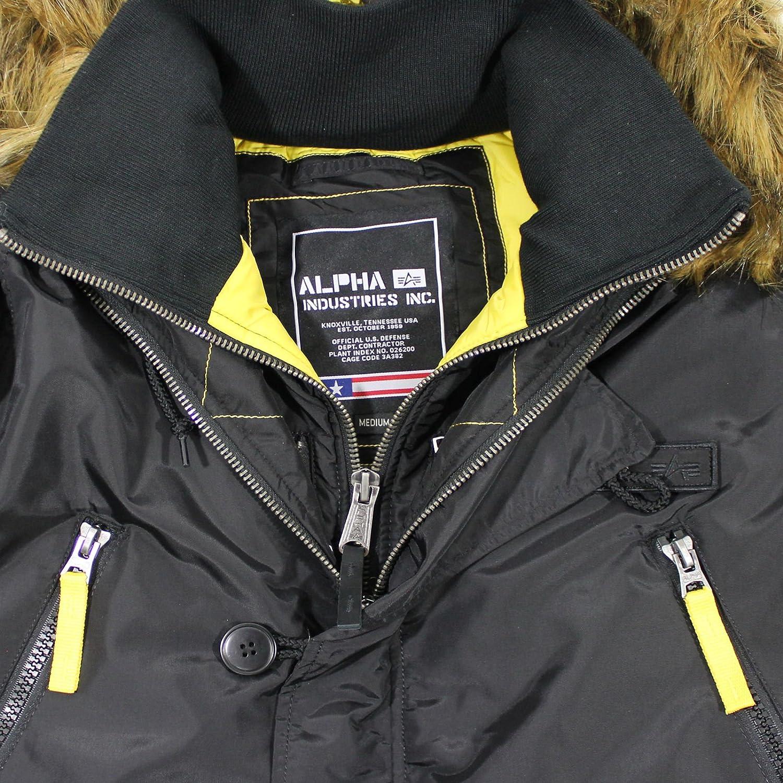 Alpha Industries Herren Jacken Winterjacke PPS N3B, Black, XL