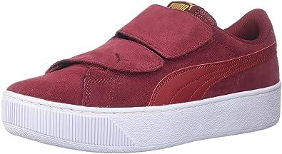 PUMA Women's Vikky Platform Velcro Sneaker, Red Dahlia-Red Dahlia, 7.5 M US