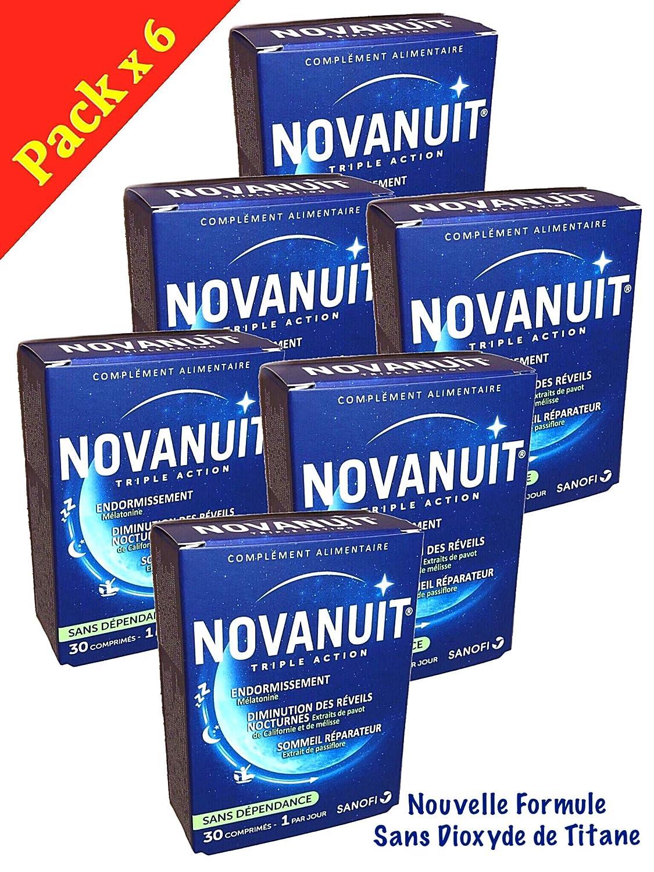 novanuit sueño triple action - Pastillas sin Dioxide de titanio - 6 meses de tratamiento - - Juego de 6 cajas de 30 COMP (6): Amazon.es: Salud y cuidado ...