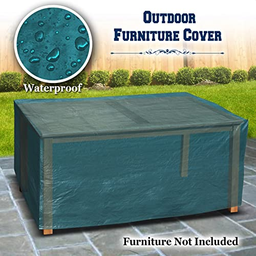Patio Outdoor Garden Table Furniture Set Cover 185CM L x 77CM W x 74CM PatioProtective Protector-Green