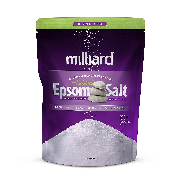 Milliard Epsom Salt 10 lbs. Magnesium Sulfate BULK Bag (4.53 KG)