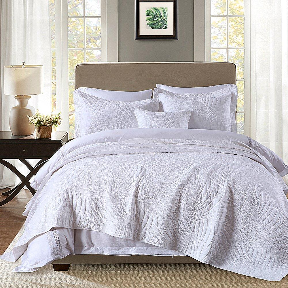 Quilt Set King, Cotton World Li Premium 3 Piece Oversized Coverlet Set as Bedspread Bed Cover Reversible Elegant Luxury Comfortable LightWeight - Wrinkle & Fade Resistant-King/California King