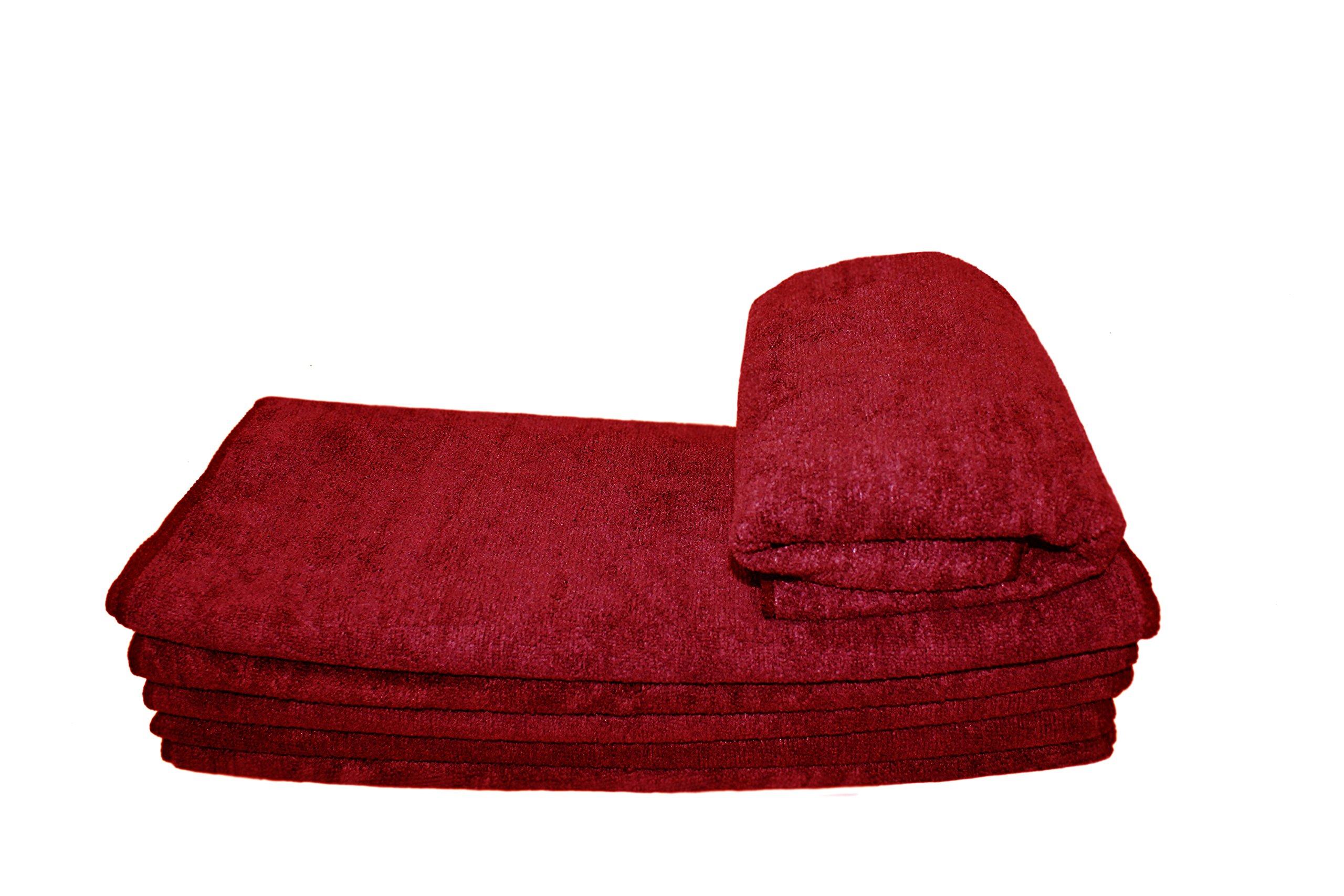 6 DOZEN 72pcs Premium Microfiber Towel 16'' X 27'' - Red