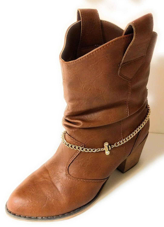 Bumblebee Cowgirl Boot Bracelet Adjustable Chain 16 Inch