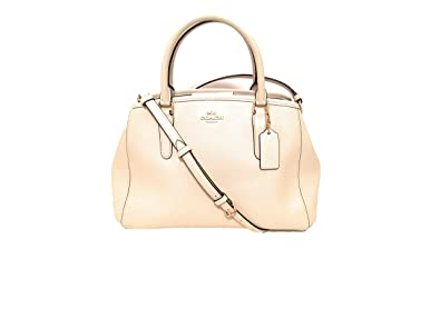 68e939844b5b2 Image Unavailable. Image not available for. Color  COACH F57527 SMALL  MARGOT CARRYALL IN CROSSGRAIN LEATHER CHALK