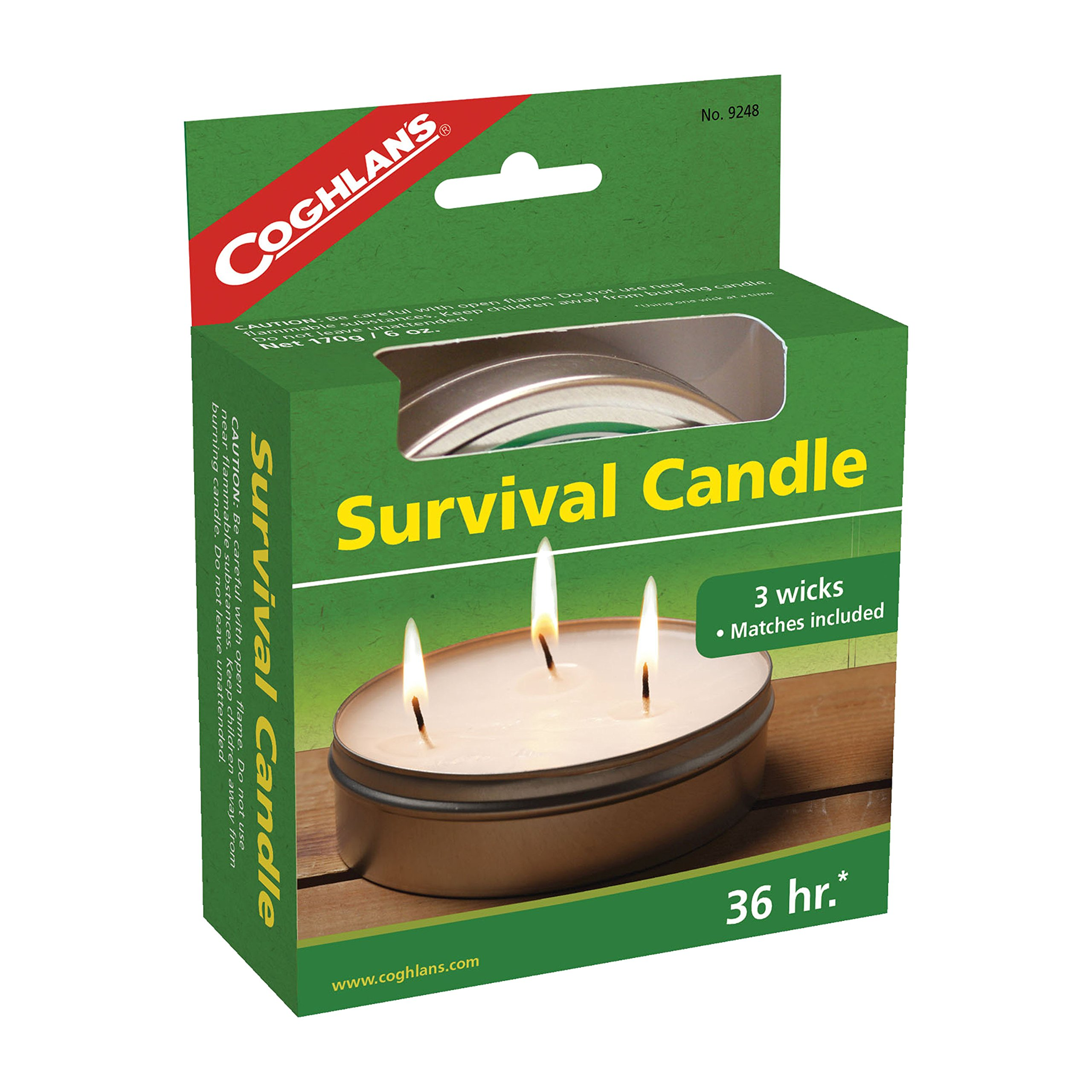 Coghlans 36 HOURS SURVIVAL CANDLE,6 OZ (2 Pack)
