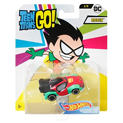 Hot Wheels Teen Titans Go Robin Vehicle, 1:64 Scale: Toys & Games