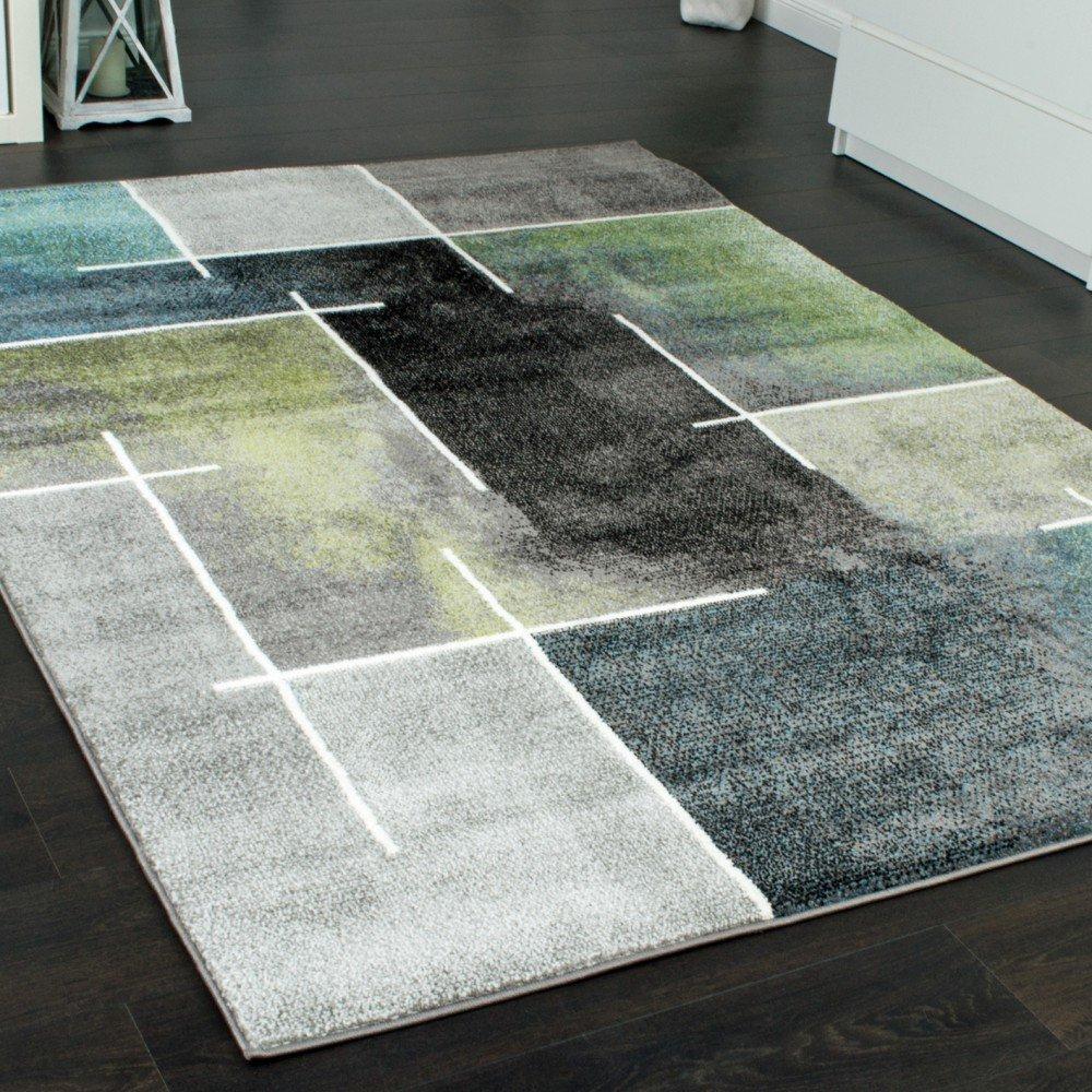 Paco Home Designer Teppich Kariert Modern Trendig Meliert Eyecatcher ...