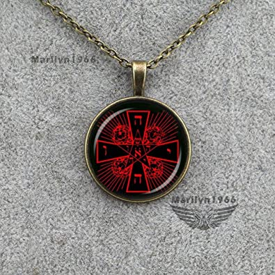 Amazon us design rosicrucian cross rose pendant magic us design rosicrucian cross rose pendant magic alchemical hermetic occult antique necklace mozeypictures Image collections