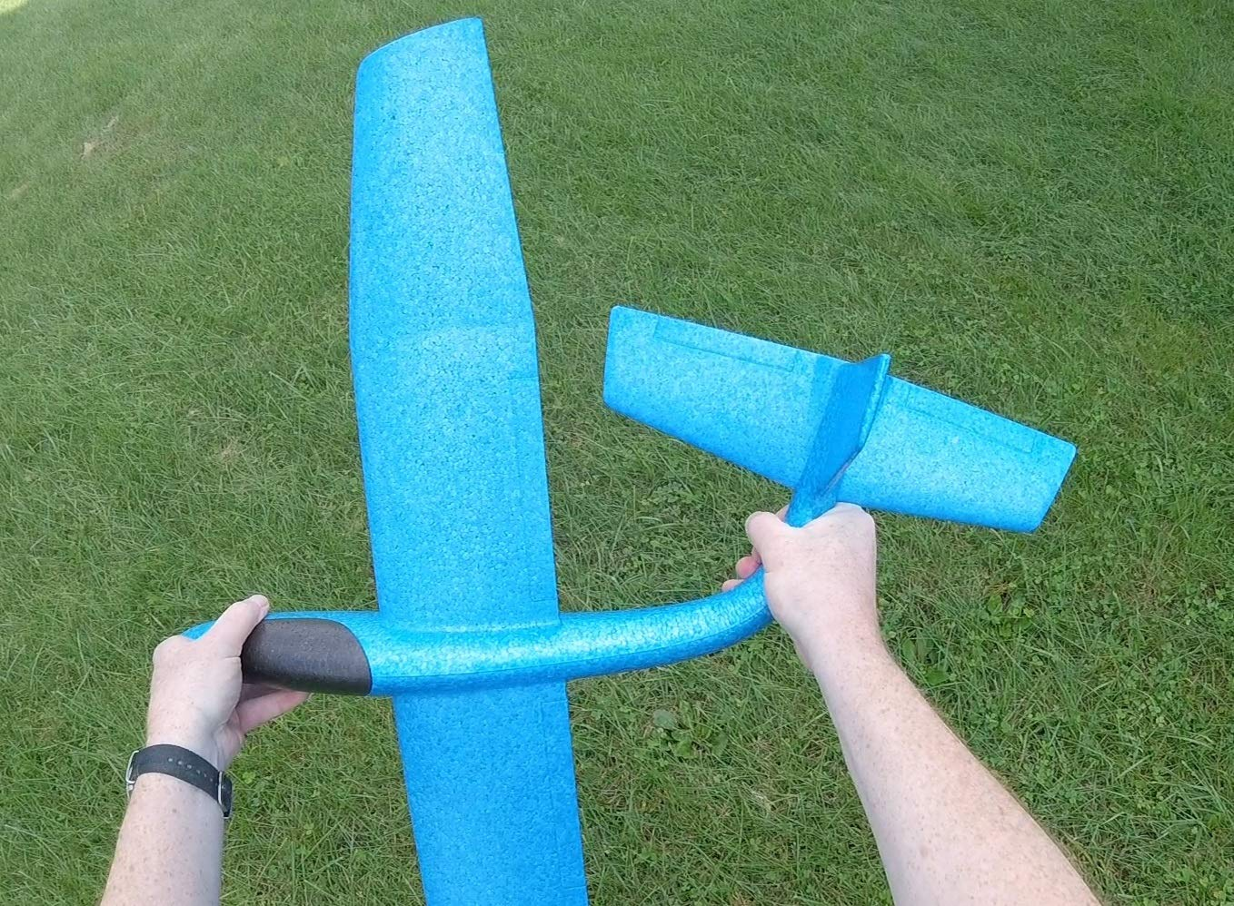 G-I-A-N-T (Almost 3 FEET), Great Flying, Almost Unbreakable, Large Foam Glider Plane. Virgin EPP Foam. Ideal for RC Conversion! Similar to LIDL Gliders Sold Out in Europe! by Daddy's Flyers (Image #7)
