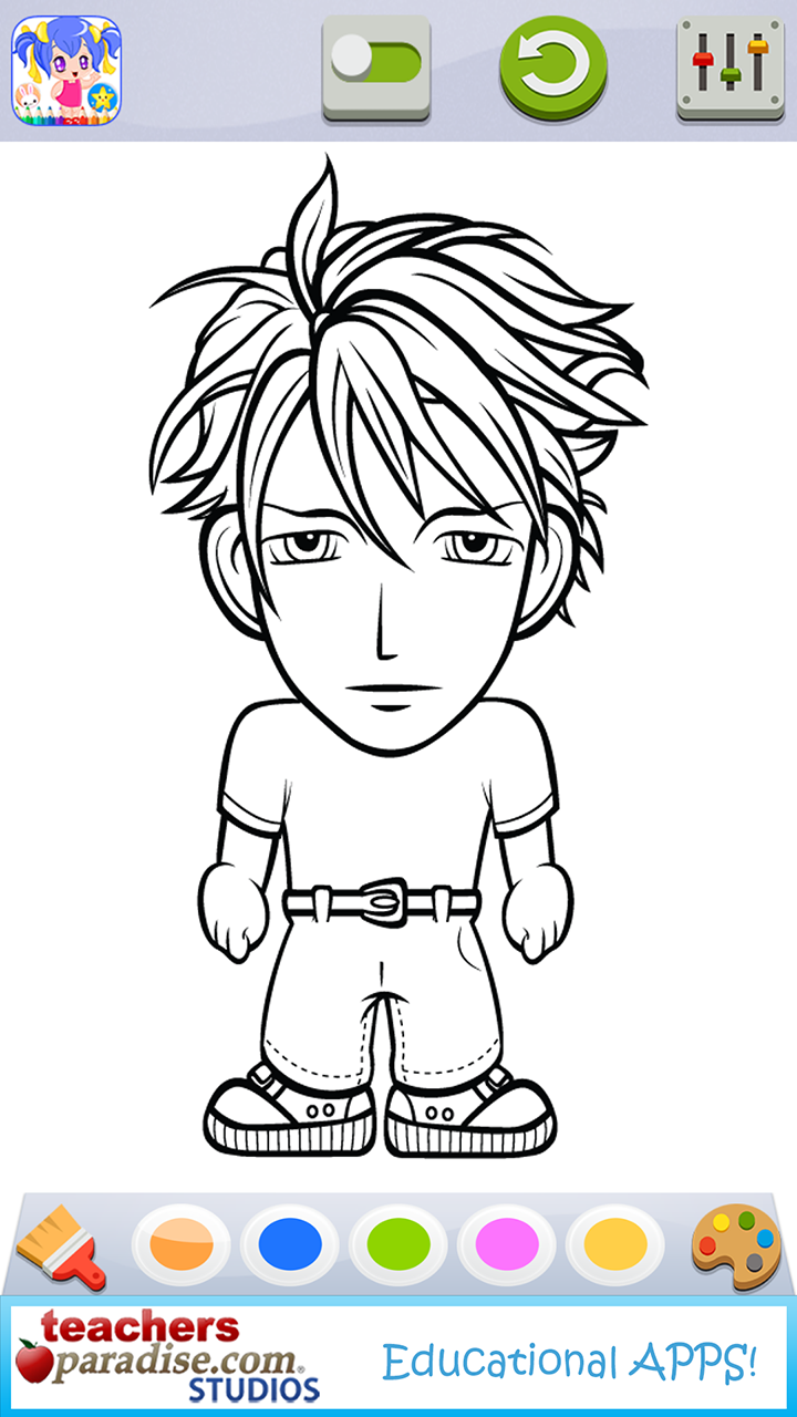 amazoncom anime and manga coloring book pages appstore for android - Manga Coloring Book