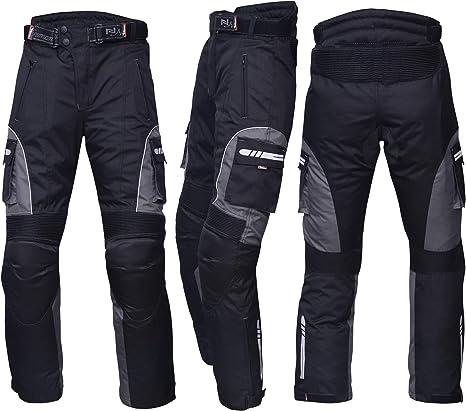 NORMAN Mens Motorbike Motorcycle Waterproof Cordura Textile Trousers Pants Armours Grey XL