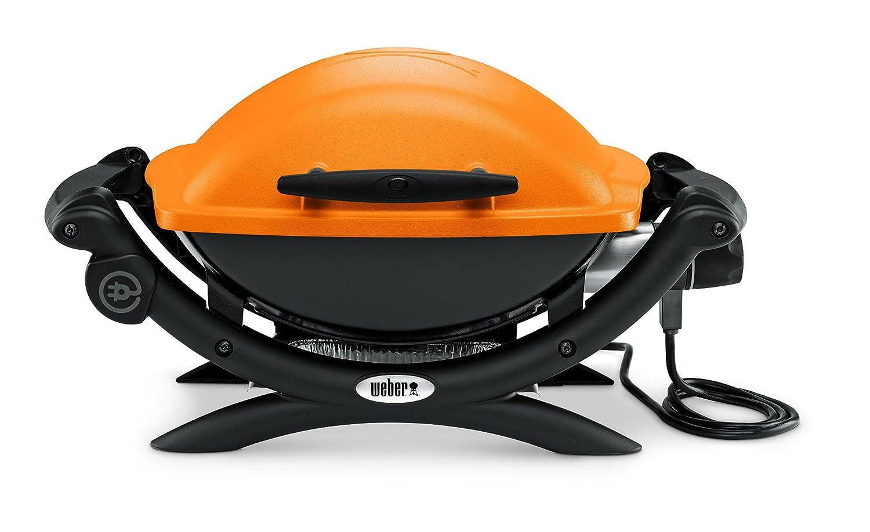 Weber Elektrogrill Maroon : Weber grill q elektro cm orange amazon