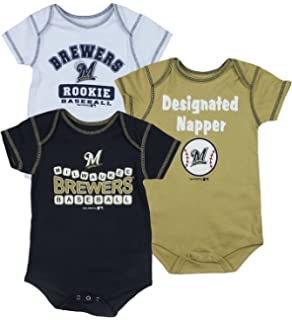 99e4d2dc9 Amazon.com   Milwaukee Brewers Infant Baby Baseball Stitches ...
