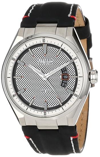 Citizen AW1130-04A - Reloj de Pulsera Hombre, Color Negro