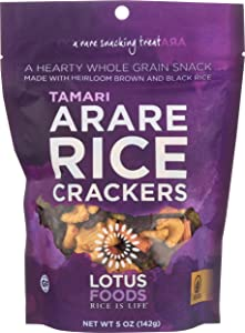 Lotus Foods Gluten Free Arare Rice Crackers, Shoyu, 5 Oz