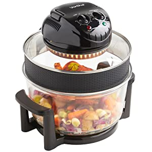 VonShef Premium 12L Black Halogen Air Fryer Oven 1400W