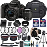Canon Eos Rebel SL2 DSLR Camera with EF-S 18-55mm f/4-5.6 is STM Lens + 2 Memory Cards + 2 Auxiliary Lenses + HD Filters + 50 Tripod + Premium Accessories Bundle (24 Items)