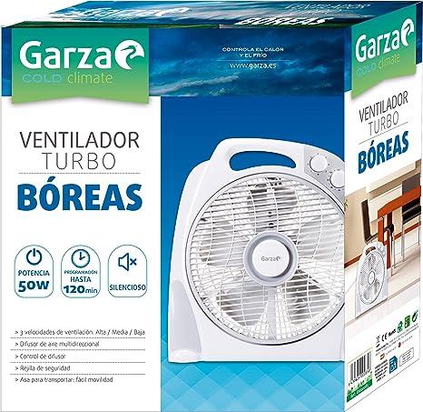 Garza BÓREAS - Turbo Ventilador Portátil de Sobremesa de 3 ...