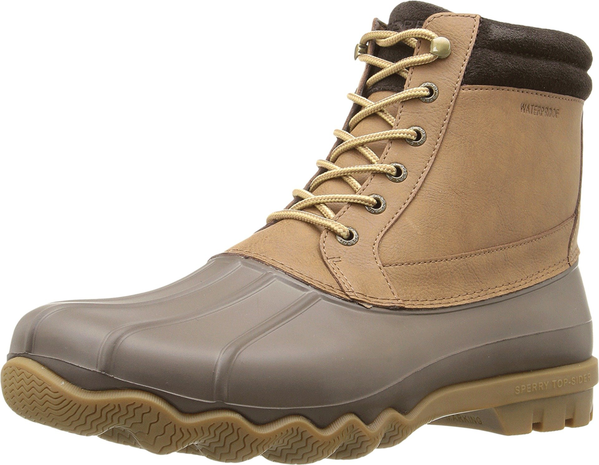 SPERRY Men's, Brewster Waterproof Boot Dark TAN 9 M