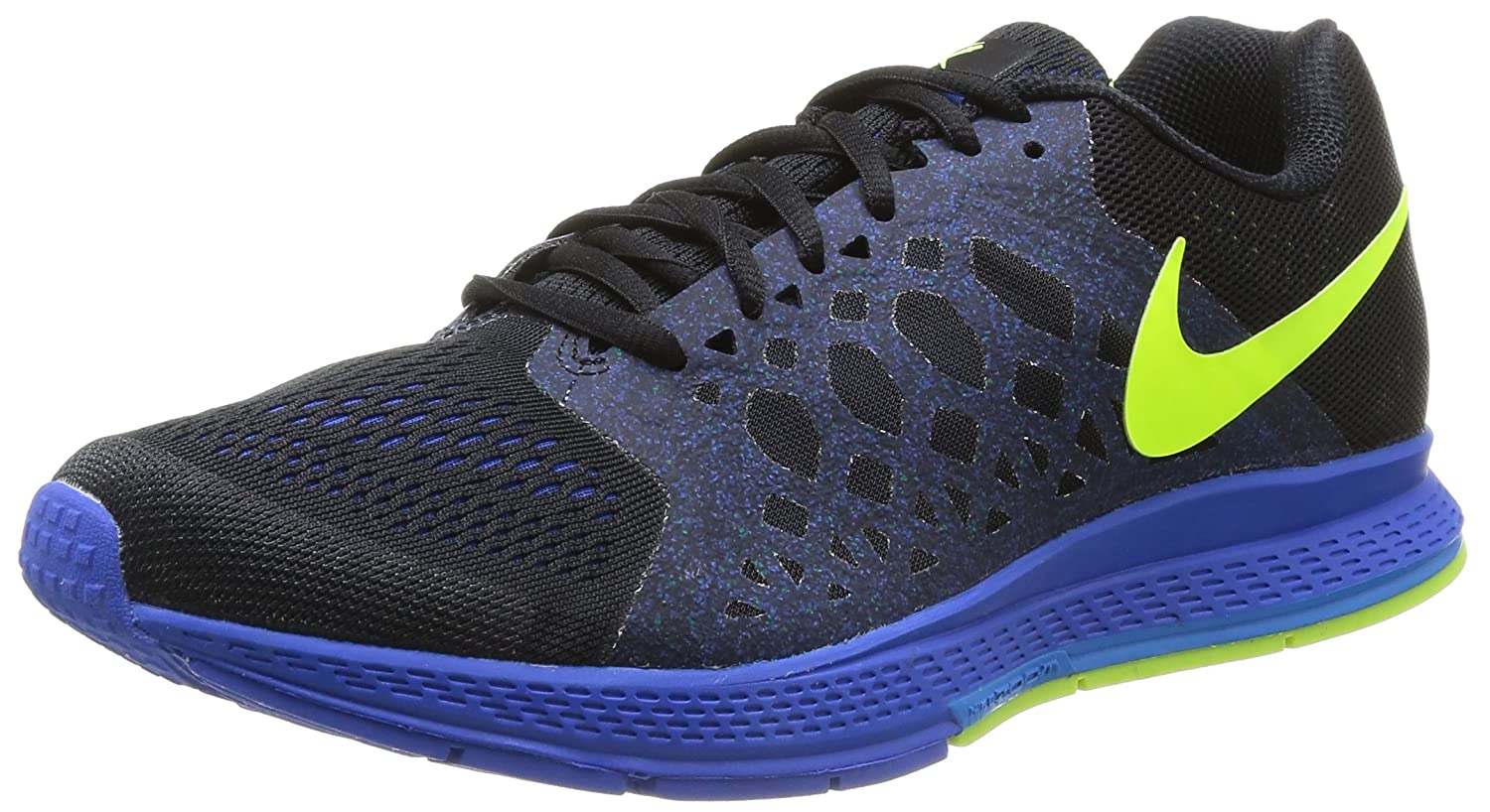 Amazon.com : Nike Men's Zoom Pegasus 31 Black/Volt/Hyper Cobalt Running Shoe  7.5 Men US : Sports & Outdoors