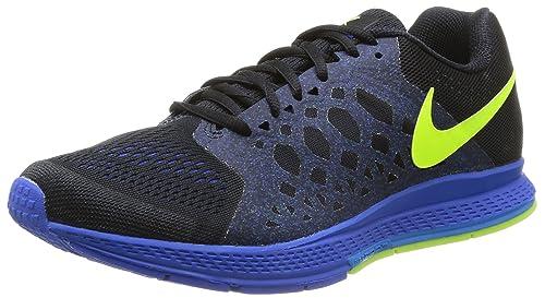 Nike Mens Zoom Pegasus 31 Black Volt Hyper Cobalt Running Shoe (9.5 D 306d9c56e