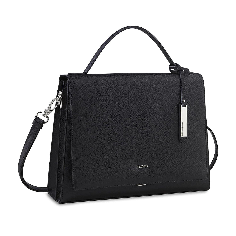 Picard Berlin handväska läder 36 cm X svart