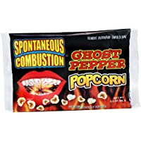 Spontaneous Combustion Ghost Pepper Microwave Popcorn Bags - 1 Pack - Ultimate Spicy Gourmet Popcorn - Perfect Hot Movie Theater Popcorn for Home - Try if you dare!