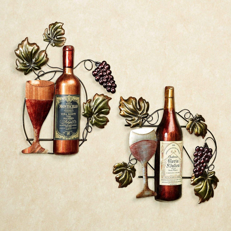 Wine Lovers Selection Wall Art Multi Jewel Set of Two