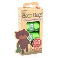 Beco Bags - Travel Pack - 60 Strong Large Poop Bags for Dogs - Eco Friendly and Degradable with Anti-tear, Unscented