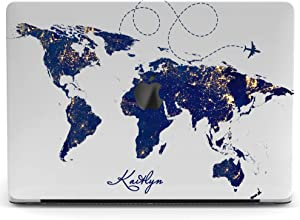 Wonder Wild Mac Retina Cover Case for MacBook Pro 15 inch 12 11 Clear Hard Air 13 Apple 2019 Protective Laptop 2018 2017 2016 2020 Plastic Print Touch Bar Custom World Map Continent Blue Travel Plane