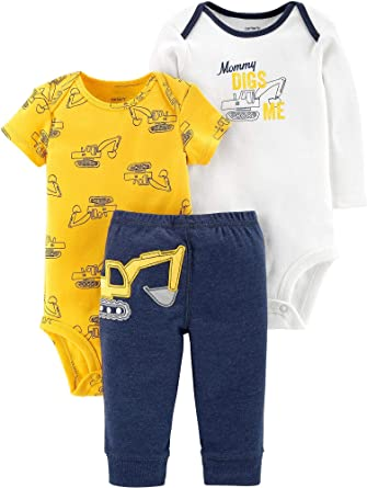 1b4bcbe76 Amazon.com: Carter's Baby Boys 3-pc. Bodysuit and Pant Set: Clothing
