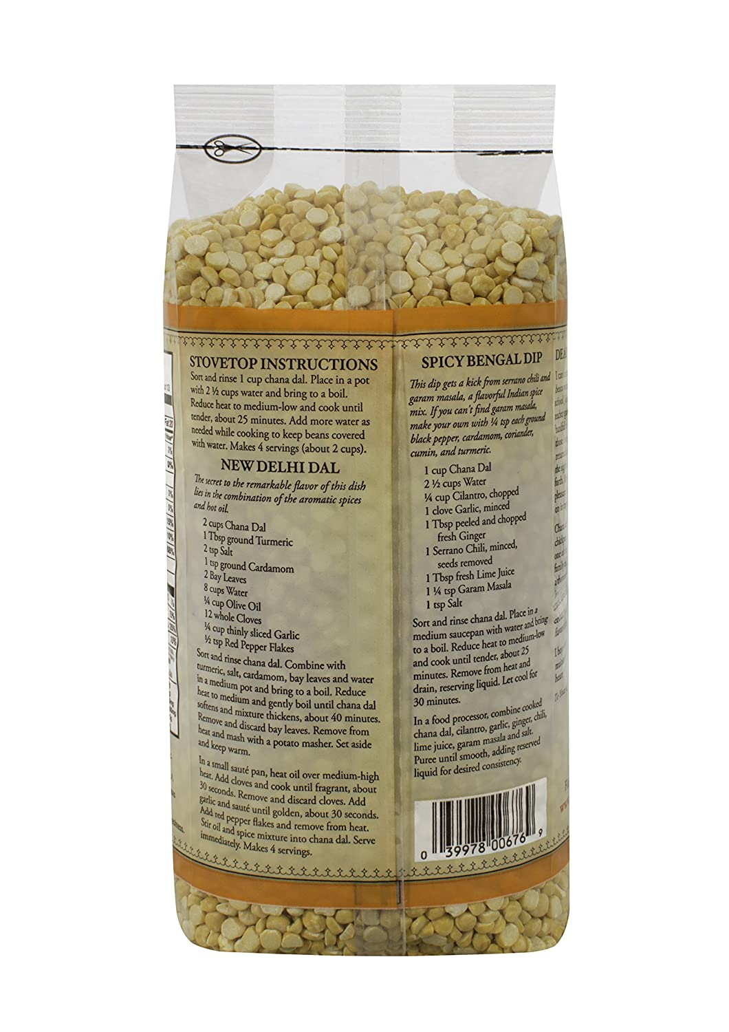 Split Desi Chickpea, 24 Ounce  (pack Of 4) : Chana Dal Produce : Grocery & Gourmet Food